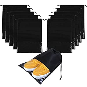 LERTREE 10PCS Waterproof Shoes Storage Bag Pouch Portable Travel Organizer Drawstring Bag Cover Non-Woven Laundry Pouch