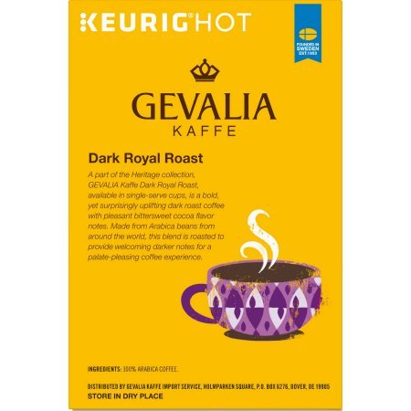 Amazon.com : Gevalia Dark Royal Roast Coffee K-Cup Pods 36 Count : Grocery & Gourmet Food