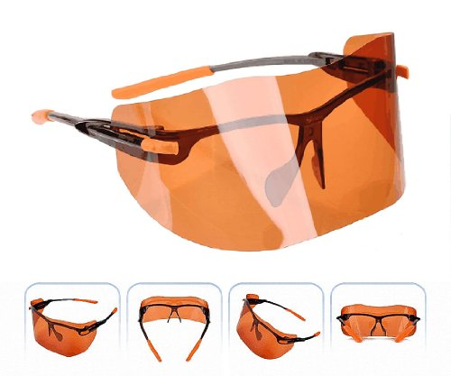 S-view Face Brown Film Sunglass Sunscreens Tanning Products Outdoor Gardening Sports Anti-uv Anti-fog Sunglass Eye Solar Face Protection Sunglass Professional Face Mask Sun Visor Face Shields (Small) by Sview (Image #3)
