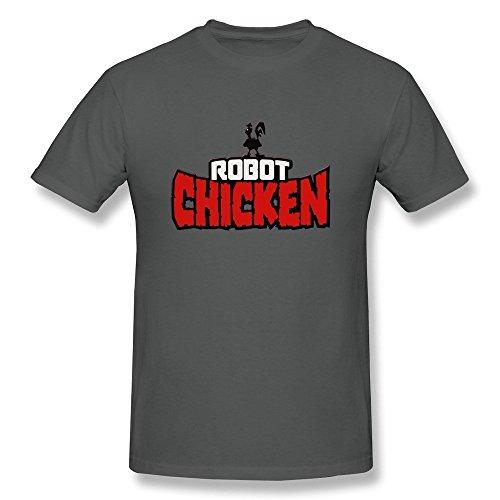 FEDNS Men's Robot Chicken Logo T Shirt