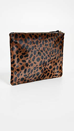 Haircalf Women's Size One Leopard Flat Leopard Clutch Clare V gIq58P