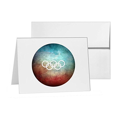 (Olympic Rings Olympics Rings, Blank Card Invitation Pack, 15 cards at 4x6, with White Envelopes, Item)