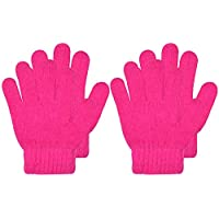 CEAJOO Kids Magic Gloves Winter Knit Cashmere Stretchy Warm 2 Pairs