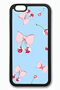 Bow And Cherries Slim Soft Cover for iPhone 6 Plus Case ( 5.5 inch ) TPU Black Cases