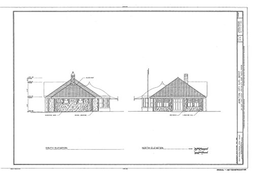 Historic Pictoric Blueprint Diagram HABS KS-62 (Sheet 6 of 8) - Junction City Depot, 410 East Tenth Street, Junction City, Geary County, KS 12in x 08in