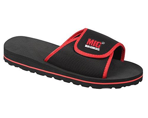 MIG - Mud Ice Gravel Mens Slip On Flip Flop Sports & Beach Sandals By MIG Red & Black IOBnqYe6LI