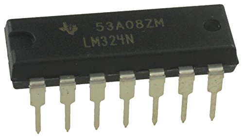 - Texas Instruments LM324N LM324 Quadruple Independent High-Gain Frequency-Compensated Operational Amplifier Op-Amp IC DIP-14 14-PIN DIP Breadboard-Friendly (Pack of 1)