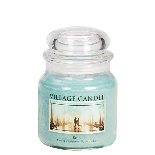 Village Candle Rain 16 oz Glass Jar Scented Candle, -