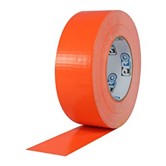 "ProTapes Pro Duct 139 PE-Coated Cloth Fluorescent Specialty Grade Duct Tape, 60 yds Length x 2"" Width, Fluorescent Orange (Pack of 1)"