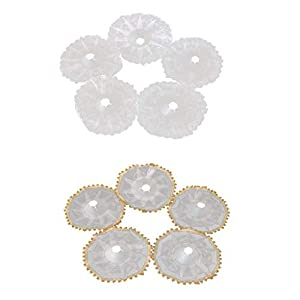 SM SunniMix 10 Inch Lace Collar Wedding Bridal Bouquet Holder, Pack of 10 Wedding Flowers Bouquet 51
