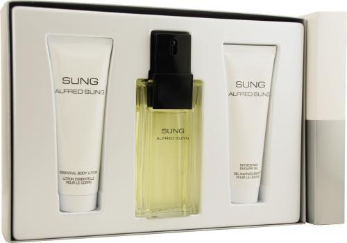 Sung by Alfred Sung for Women. Set-Eau De Toilette Spray 3.4-Ounces & Body Lotion 2.5-Ounces & Shower Gel 2.5-Ounces Alfred Sung Shower Gel