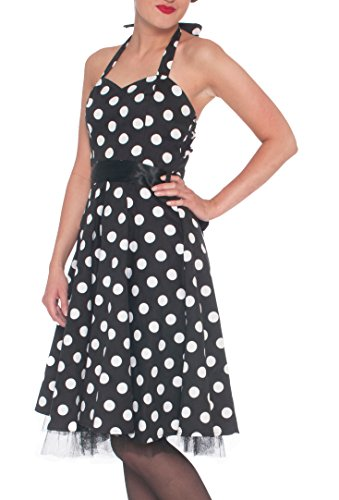 50s-Womens-Vintage-Style-Polka-Dot-Halter-Rockabilly-Dress