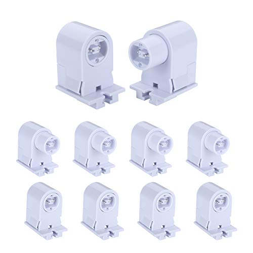 R17D/HO Tombstone Base Holder Socket Connector T8/T10/T12 8ft LED Light Replacement Fluorescent Plunger Lampholder Adaptor 5 Pairs