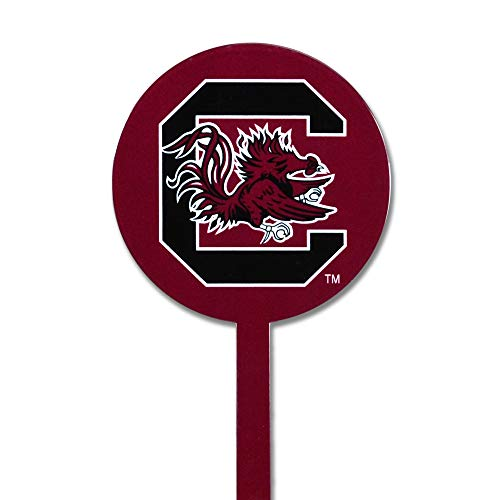 Authentic Street Signs Spring Steel Garden Stakes (South Carolina Gamecocks-Bergundy)