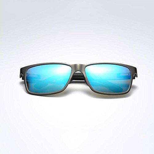 Aire 100 Polarizada Conducción UV Anti De Azul Luz De Gafas Gafas UVA WYYY Cuadrada Caja Gafas Color Libre Hombres Protección Solar Clásico Protección Sol Azul 51wq6qvY