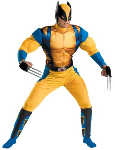 [Disguise Marvel The Wolverine Classic Muscle Mens Adult Costume, Yellow/Blue,  X-Large/42-46] (Women X Men Costumes)