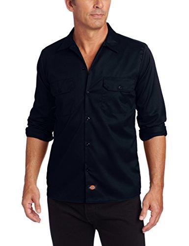 Male Shirt Homme Streetwear Long Navy Dickies Sleeve Slim Bleu dark Sweat x4Rgn