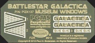 Battlestar Galactica Museum Windows Model Kit Photoetch Set (Model Plastic Window)
