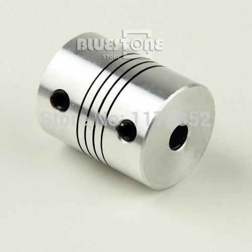 Fevas 2 pics CNC Motor Shaft Coupler 6mm to 6mm Flexible Coupling,D18L25