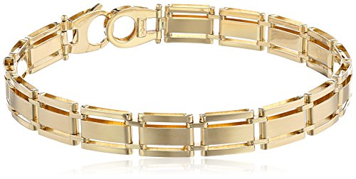 Mens-14k-Yellow-Gold-Solid-Fancy-Bracelet-85