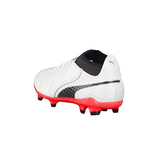 Puma One 17.2 Fg, Zapatillas de Fútbol para Hombre Blanco (White-black-fiery Coral)