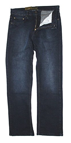 Urban Star Men's Relaxed Fit Straight Leg Jeans (38 x 32, Midnight Blue) ()