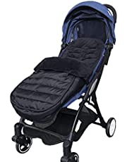 Voetenzak voor kinderwagen buggy, 3-in-1 kinderwagen slaapzak bijhang, voorjaar herfst verdikt en fluwelen deken voor baby's, wasbaar, universeel voor babyzitje (zwart)