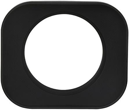 Haoge 46mm Square Metal Screw-in Lens Hood for Leica Summilux-M 35mm f//1.4 50mm f1.4 E46 Summarit-M 90mm f//2.5 75mm f2.5 E46 Summicron-M 28mm F2 E46 ASPH Voigtlander 35mm f//1.7 28mm f2 Lens Silver