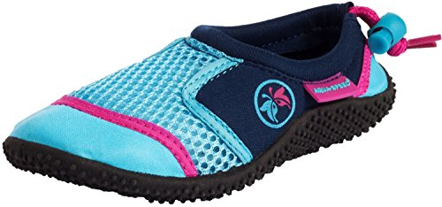 AQUA-SPEED Aquashoes - Water Shoes For Beach - Sea - Lake - Ideal Bath Shoes For Feet Protection - #AS14 Navyblue/Turquoise/Pink aa6JNr