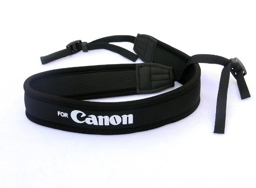 Rainbowimaging NSC Anti-Slip Elastic Neoprene Neck Strap for Canon DSLRs (Black) Photography Accessories INC