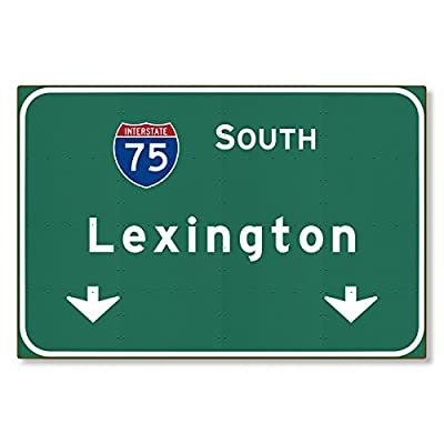 I-75 Interstate Lexington Kentucky ky METAL Highway Freeway Sign : Novelty Reproduction Wall Decor Art :: STEEL :: not tin 36x24 [AYY000]