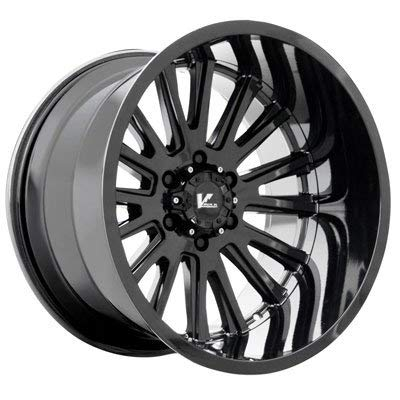 V-Rock Anvil Gloss Black Wheel with Painted Finish (18 x 9.5 inches /6 x 135 inches, 15 mm Offset)