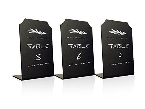 Acrílico pizarrón signos Memo Mensaje–Mini pizarrón con función atril para restaurante café & fiestas Tarjetas de...