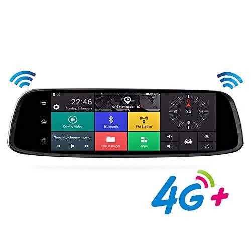 SPFCAR Newest Car DVR 4G Bluetooth4.0 Rearview Mirror Digital Video Recorder Dual Lens Registratory Camcorder Night Vision