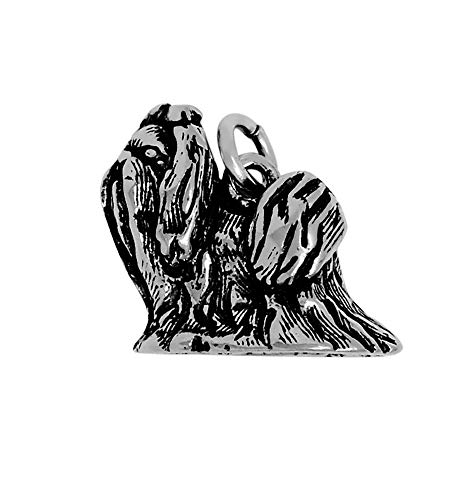 (Raposa Elegance Sterling Silver 3D Shih Tzu Charm (approximately 13.5 mm x 15.5 mm))