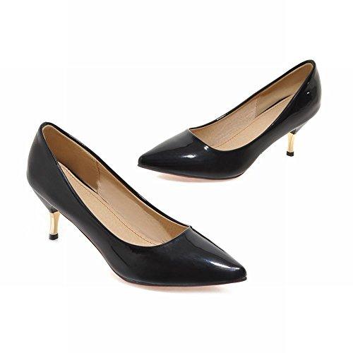 Gattino Tacco o da Lavoro Scarpe Sala Nero Elegante Donna MissSaSa Hw64SS