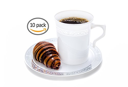 Plastic Coffee Matching Plates Serving product image