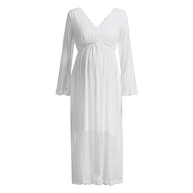 5620ba3f9bb89 Women's Maternity Lace Nightgown,Nursing Nightdress Hospital Gown  Delivery/Labor/Pregnancy Soft Breastfeeding
