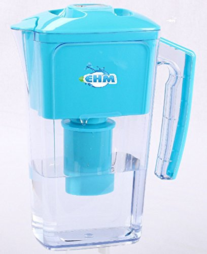 Water Ionizer Pitcher 2.5L Pure Healthy Water in Minutes EHM (Blue) ()