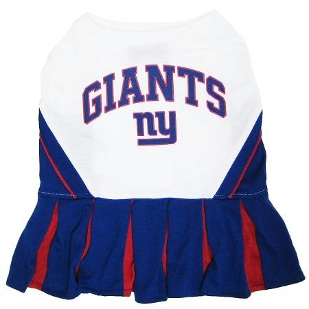 Mirage Pet Products Puppy Dog Cat Costume New York Giants Sports Team Logo Cheer Leading Uniform SM