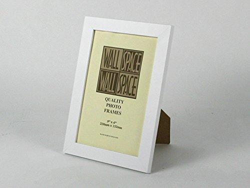 Amazon.com: 9 x 6 - 25mm Smooth Matt White Photo Frames by Wall ...