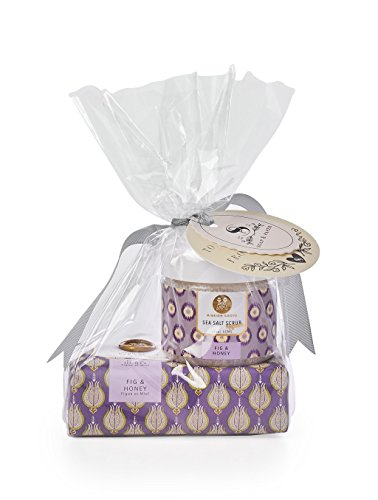 Soap & Paper Factory Mission Grove Fig & Honey Shea Soap & Body Scrub Set