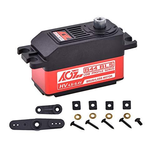 AGFRC Low Profile Servo High Speed RC Servo - Digital Brushless RC Hobby Servo Motor Kit Ideal for Touring Car 1/10 (B44BLS) ()