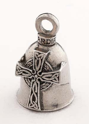 CELTIC CROSS GUARDIAN BELL WITH CUSTOM GIFT BOX HARLEY BIKER BELL RIDE TO LIVE