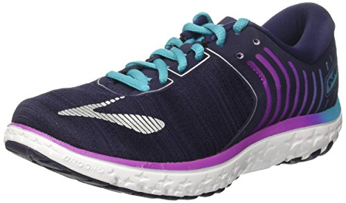 Brooks Pureflow 6, Zapatos para Correr para Mujer Multicolor (Evening Blue/Teal Victory/Island Blue)