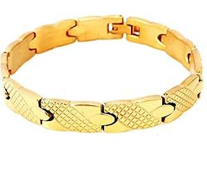 ujewerly Lujo hombres de acero inoxidable 316L Pulsera de oro joyería mejor regalo para hombre