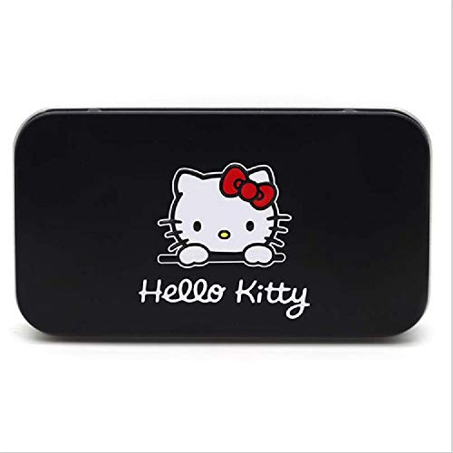 Hello Kitty Cosmetic Set - Cute Hello KItty 7PCS Makeup Brush Set Foundation Eyebrow Eyeliner Blush Cosmetic Concealer Brushes (black)