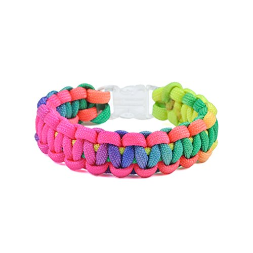 Paracord Planet Colorful Rainbow Cord Tie Dye Style Type III 7 Strand 550 Paracord – Available in 10, 25, 50, and 100 Feet
