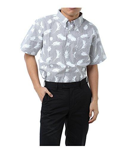 ツアーディビジョン メンズ ゴルフウェア ポロシャツ 半袖 シアサッカープリント半袖シャツ TD220101H04 GY M