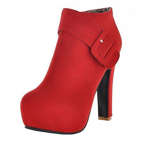 Rouge Mode Bottillons De Femmes Razamaza Haut Glissière Latérale Talon Cheville gnqapzOnw